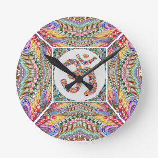 Om Mantra Jewel Collection Round Clock
