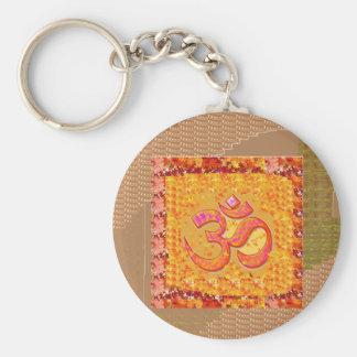 OM Mantra OmMANTRA Chant Yoga Meditation HEALTH Basic Round Button Key Ring