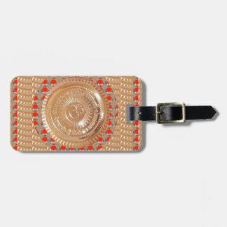 OM MANTRA OmMANTRA hindu religious symbol peace Luggage Tag