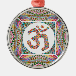 OM MANTRA OmMantra Hinduism Yoga Indian Peace Metal Ornament