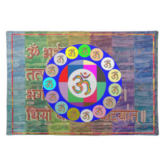"OM MANTRA Placemats 20"" x 14"""