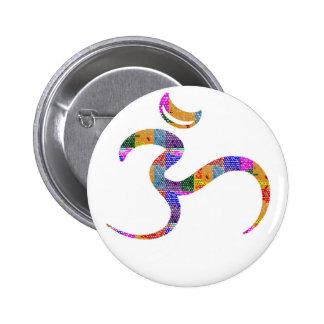 OM MANTRA Sleek 6 Cm Round Badge