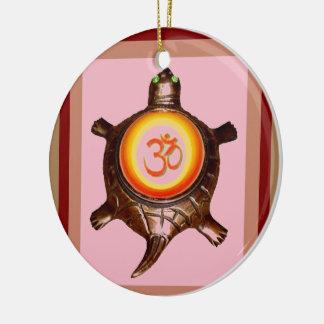 OM MANTRA SPIRITUAL HINDUISM SYMBOL YOGA MEDITATIO CERAMIC ORNAMENT
