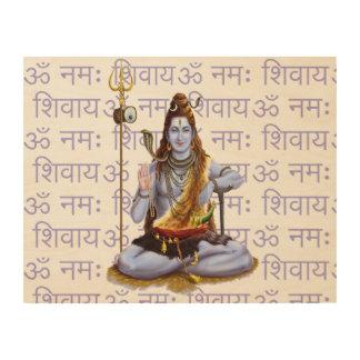 Om Namah Shivay Wood Print