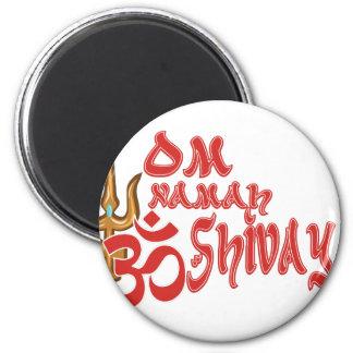 Om Namah Shivaya 6 Cm Round Magnet