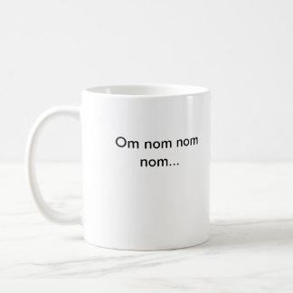 Om nom basic white mug
