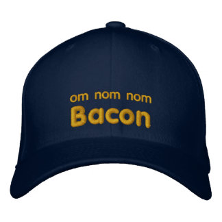 OM NOM NOM BACON Love Embroidered Hat