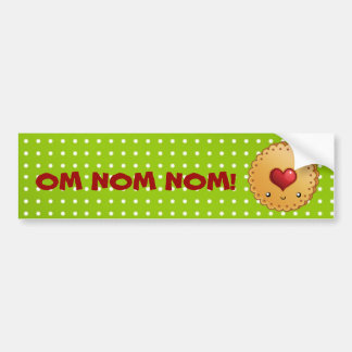 OM NOM NOM cookie Bumper Sticker
