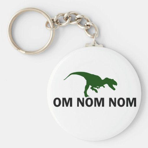 Om Nom Nom Dinosaur Rawr is Hungry Key Chain