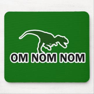 Om Nom Nom Dinosaur Rawr is Hungry Mouse Pad