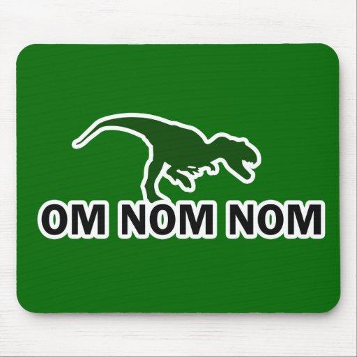 Om Nom Nom Dinosaur Rawr is Hungry Mousepad