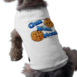 Om Nom Nom, Meme Love Cookies Sleeveless Dog Shirt