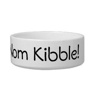 Om Nom Nom Nom Kibble Cat Bowls