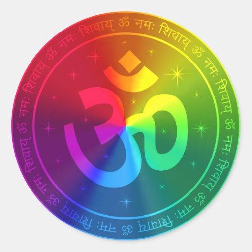 Om Rainbow Design Sticker