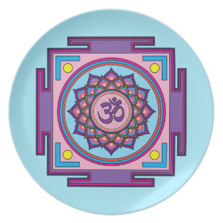 Om Shanti Om Mandala Plate