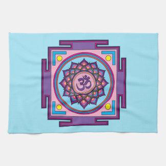 Om Shanti Om Mandala Tea Towel