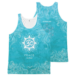 Om Shanti - Peace (M) All-Over Print Singlet