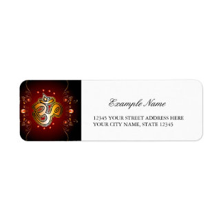 Om sign return address label