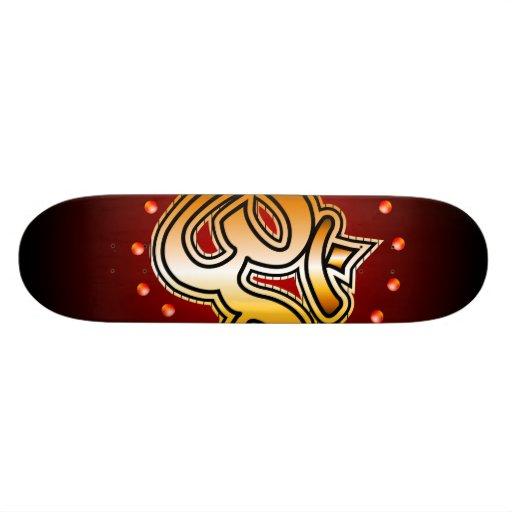 Om sign skate deck