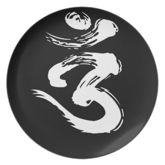 OM Spiritual Symbol - Yoga Products Plate