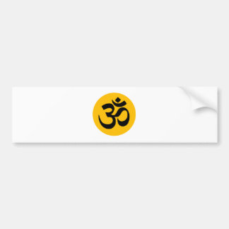 Om Symbol, black circle with gold Bumper Sticker