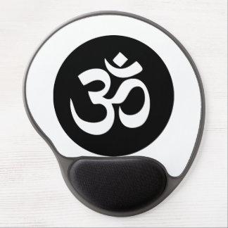 Om Symbol Circle Gel Mousepad