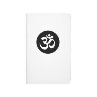 Om Symbol Circle Pocket Journal