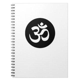 Om Symbol Circle Spiral Notebook