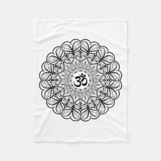 Om Symbol Mandala Blanket