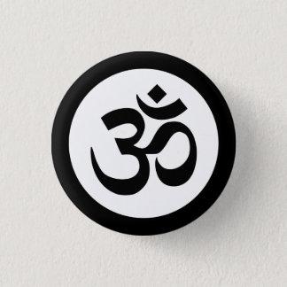 Om Symbol on Black and White Badge