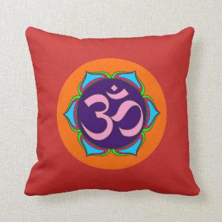 om symbol sacred Buddhism religion zen yoga flower Cushion