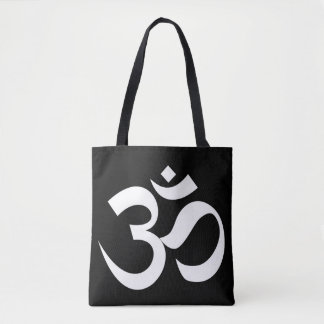 om symbol sacred Buddhism religion zen yoga Tote Bag