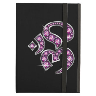 """Om Symbol with """"Garnet"""" Stones iPad Folio Case"""