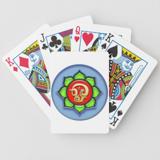 Om (Tamil) Red, Green, Blue Bicycle Playing Cards