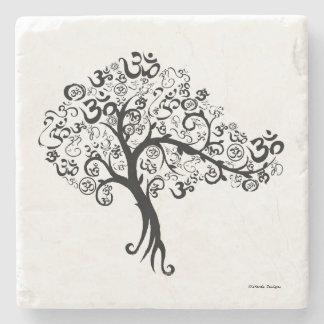 OM Tree Stone Beverage Coaster