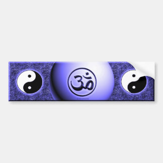 Om Yin Yang - Blue Bumper Sticker