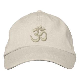 OM Yoga Chakra Beige Beige or customize Embroidery Embroidered Baseball Caps
