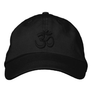 OM Yoga Chakra Black Black or customize Embroidery Baseball Cap