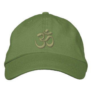 OM Yoga Chakra Kaki Green or customize Embroidery Embroidered Hats