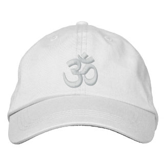 OM Yoga Chakra White or customize it Embroidery Embroidered Cap