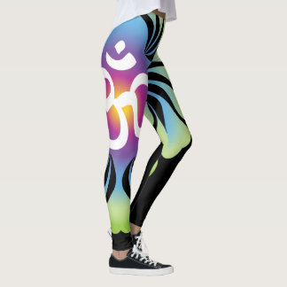 OM Yoga Leggings lotus