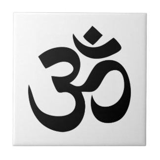 Om Yoga Small Square Tile