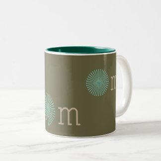 Om zen green Two-Tone coffee mug