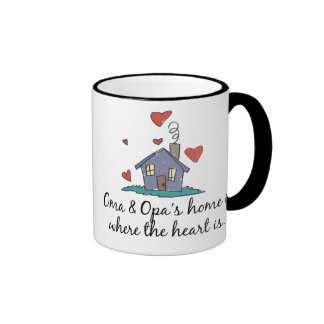 Oma and Opa's Home is Where the Heart is Ringer Mug