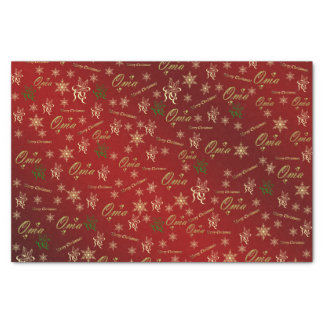 oma golden christmas text tissue paper
