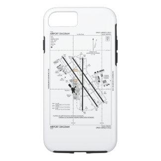 Omaha Airport Diagram iPhone 8/7 Case