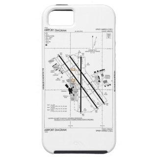 Omaha Airport Diagram Tough iPhone 5 Case