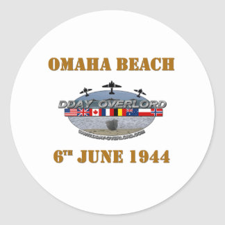 Omaha Beach 6th June 1944 Classic Round Sticker