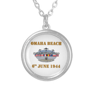 Omaha Beach 6th June 1944 Silver Plated Necklace