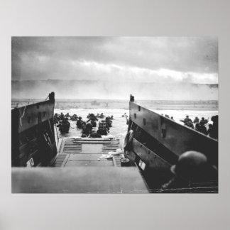 Omaha Beach, Normandy, D-Day 1944 Poster